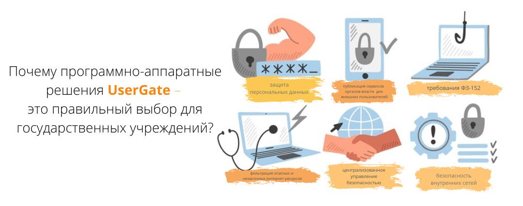Почему программно-аппаратные решения UserGate – это правильный выбор для государственных учреждений?